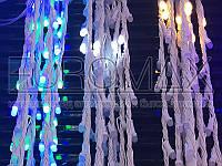 Гирлянда Водопад белый провод с белой матовой круглой лампой 3,0мХ1,5м 320LED (синий) IT-RAINS-320B-2