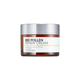 Обновляющий крем для лица с экстрактом пчелиной пыльци Missha Bee Pollen Renew Cream 50 мл (8809581450936)