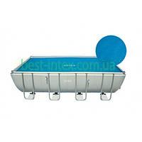 Intex 29027 для прямоугольных каркасных бассейнов 732х366 см. Тент-чехол с обогревающим эффектом