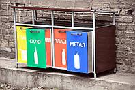 Контейнер металлический для раздельного сбора мусора, фото 1