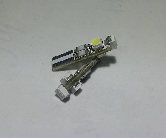 Красная светодиодная автолампа Т5, 3pcs 1210 circuit