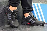 Кроссовки мужские черные с серыми полосками Adidas Climaproof 6282