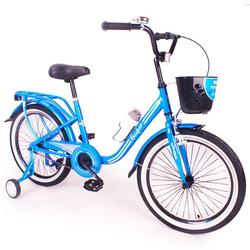 """Детский Велосипед в ретро стиле с заниженной рамой """"CASPER-20"""" Blue"""