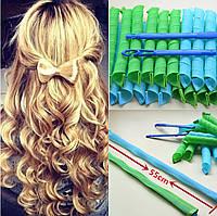 Волшебные бигуди Magic Leverag для длинных волос 55 см. диаметр 2,5 см. 18 шт. в наборе, фото 1