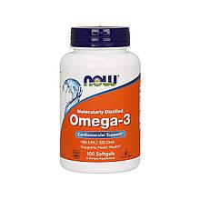 Рыбий жир Now США Omega-3 100 softgels