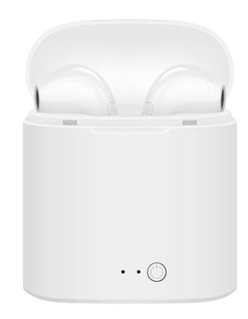 Наушники i7S tws белые Bluetooth гарнитура