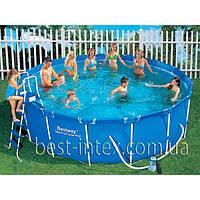Bestway 56100/56438 (457x122 см.) Каркасный бассейн Steel Pro Frame Pool, фото 1