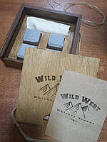 Камни для Виски из стеатита Wild West 4 Premium