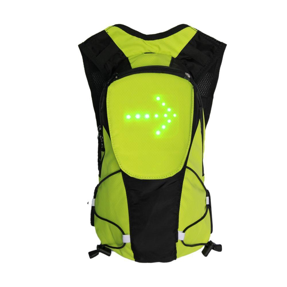 Рюкзак для велосипеда BIKEMAN з вбудованим світловим індикатором повороту Зелений (SUN3769)