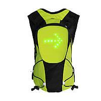 Рюкзак для велосипеда BIKEMAN з вбудованим світловим індикатором повороту Зелений (SUN3769), фото 1