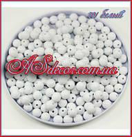Бусины 10 мм белый глянец