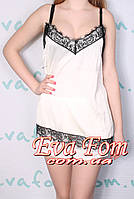 Комплект женский атласный с шортами , фото 1