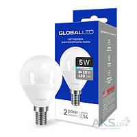 Светодиодная лампа GLOBAL G45 F 5W 4100K 220V E14 AP (1-GBL-144)