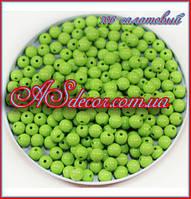 Бусины 10 мм - цвет салатовый