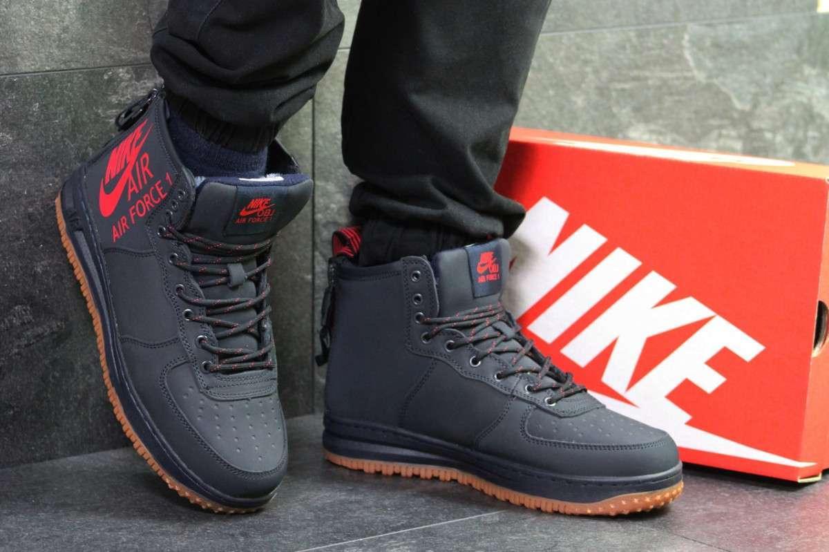 d0e07a57 Мужские зимние кроссовки темно синие Nike Air Force 6397 купить в ...