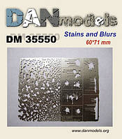 Трафарет для нанесения на модель следов подтеков, пятен и брызг. №1. 1/35 DANMODELS 35550