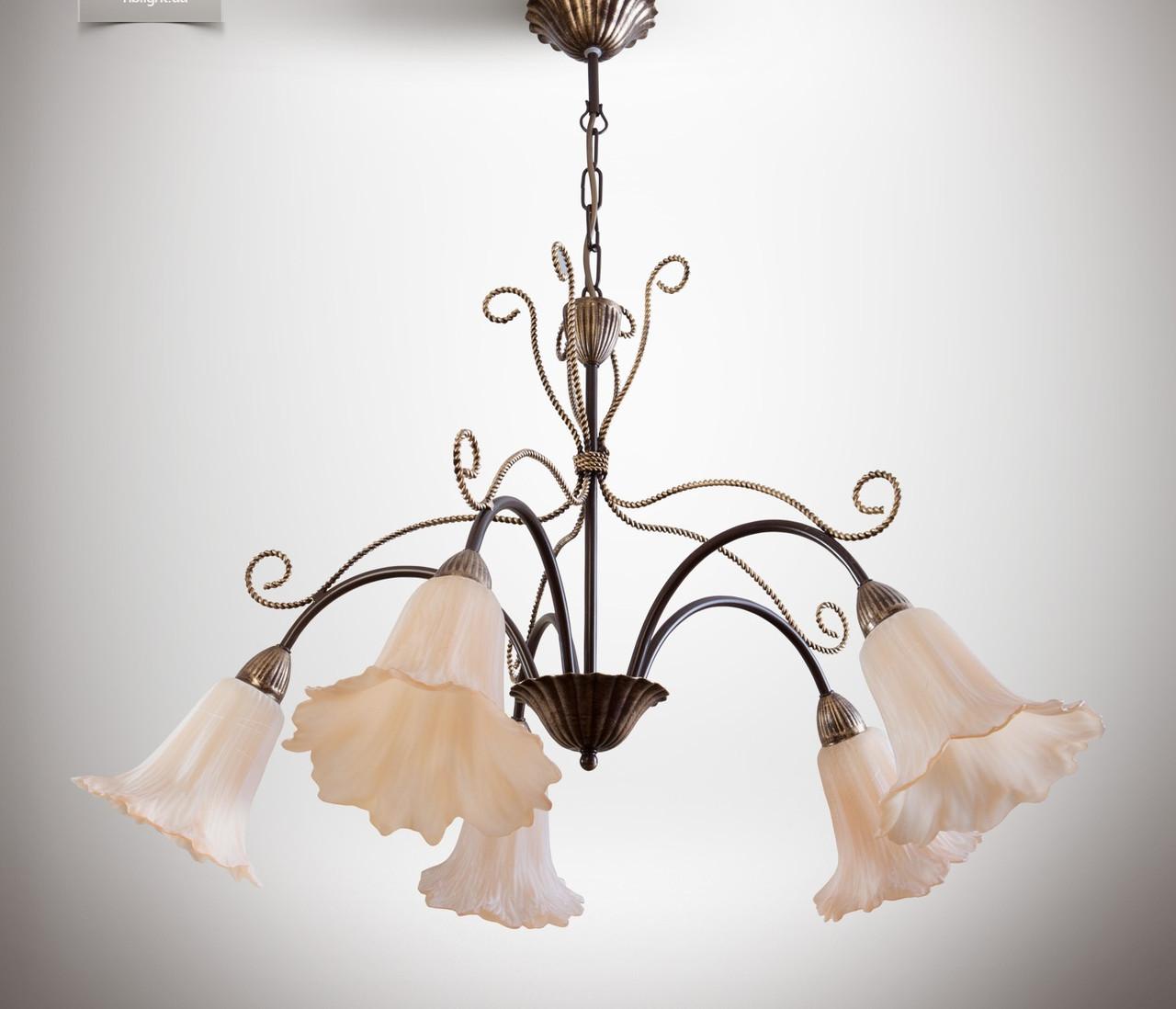 Люстра для большой комнаты, зал, 5-ти ламповая  1755