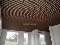 Потолок Грильято стандарт ячейка 100х100 мм, цвет Золотой дуб