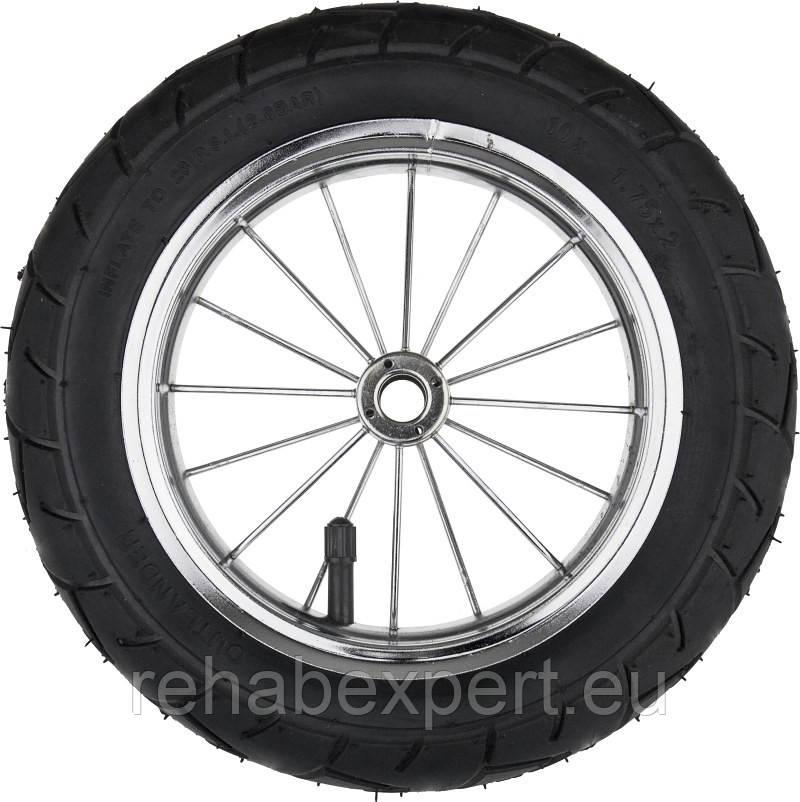 """Pneumatic Wheel 10"""" Chrome - Надувное Колесо без подшипников для прогулочных детских колясок"""