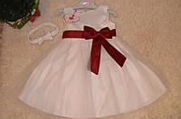 Торжественное  платье  для девочек 3-6-12-18 мес