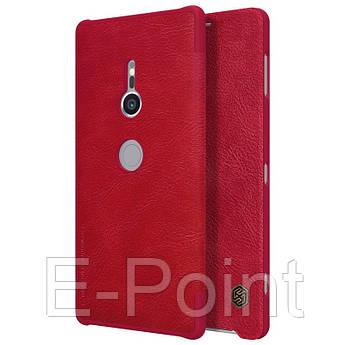 Кожаный чехол (книжка) Nillkin Qin Series для Sony Xperia XZ2