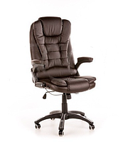 Кресло MANAGER с массажером коричневое, фото 1