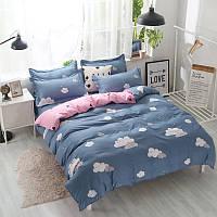 """Комплект постельного белья """"Облако"""" с простынью на резинке (двуспальный-евро)"""