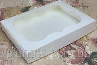 Коробка для печенья, пряников, с окном, 15 см х 20 см х 3 см, мелованный картон