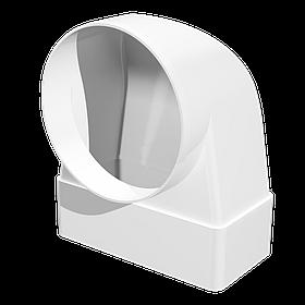 Соединитель Эра 90° прямоугольного воздуховода с круглым 60 х 120 х 100 мм (60-176)