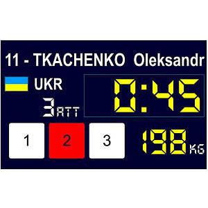 Табло для соревнований по тяжелой атлетике Eleiko международное, код: 3001267