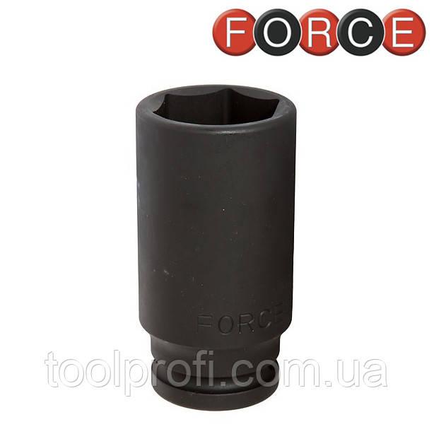 """Головка  шестигранная ударная длинная 3/4"""", 27 мм (Force 46510027)"""