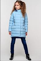 Детская демисезонная куртка для девочки Натти голубой