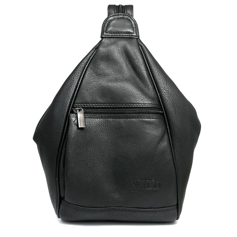 Рюкзак городской кожаный Always Wild 776-NDM Black