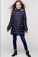 Детская демисезонная куртка для девочки Натти тем.синий
