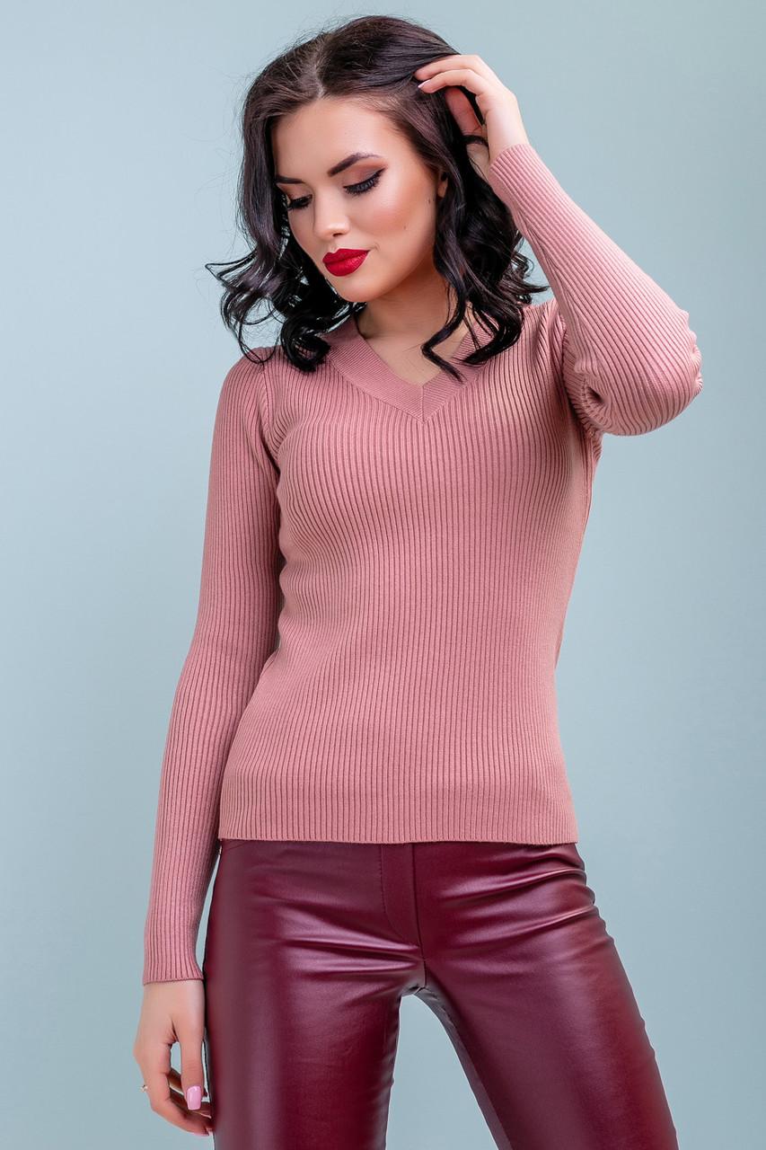 7caf3071a54a Женский повседневный пуловер, розовый, классический, офисный, молодёжный  свитер ...