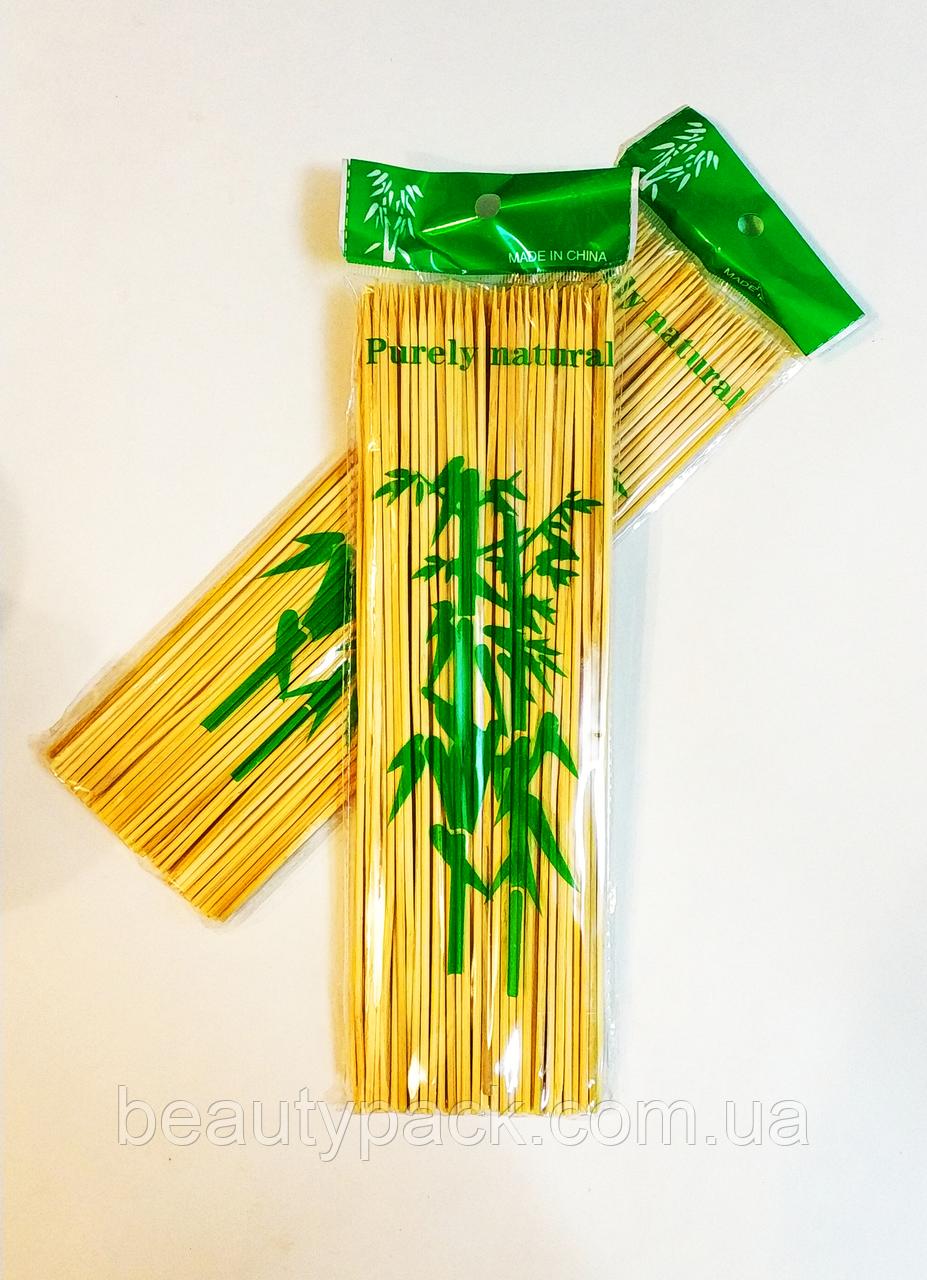 Бамбуковые палочки для шашлыка 30 см / 100шт