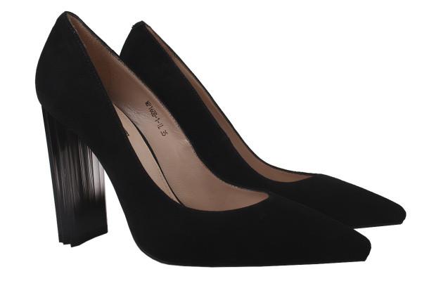 Туфли женские на каблуке Maria Moro натуральная замша, цвет черный