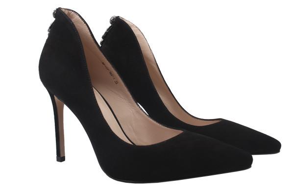 Туфли женские на шпильке Maria Moro натуральная замша, цвет черный (39р.)