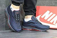 Мужские кроссовки Nike Air Max 97 темно синие с красным 3834