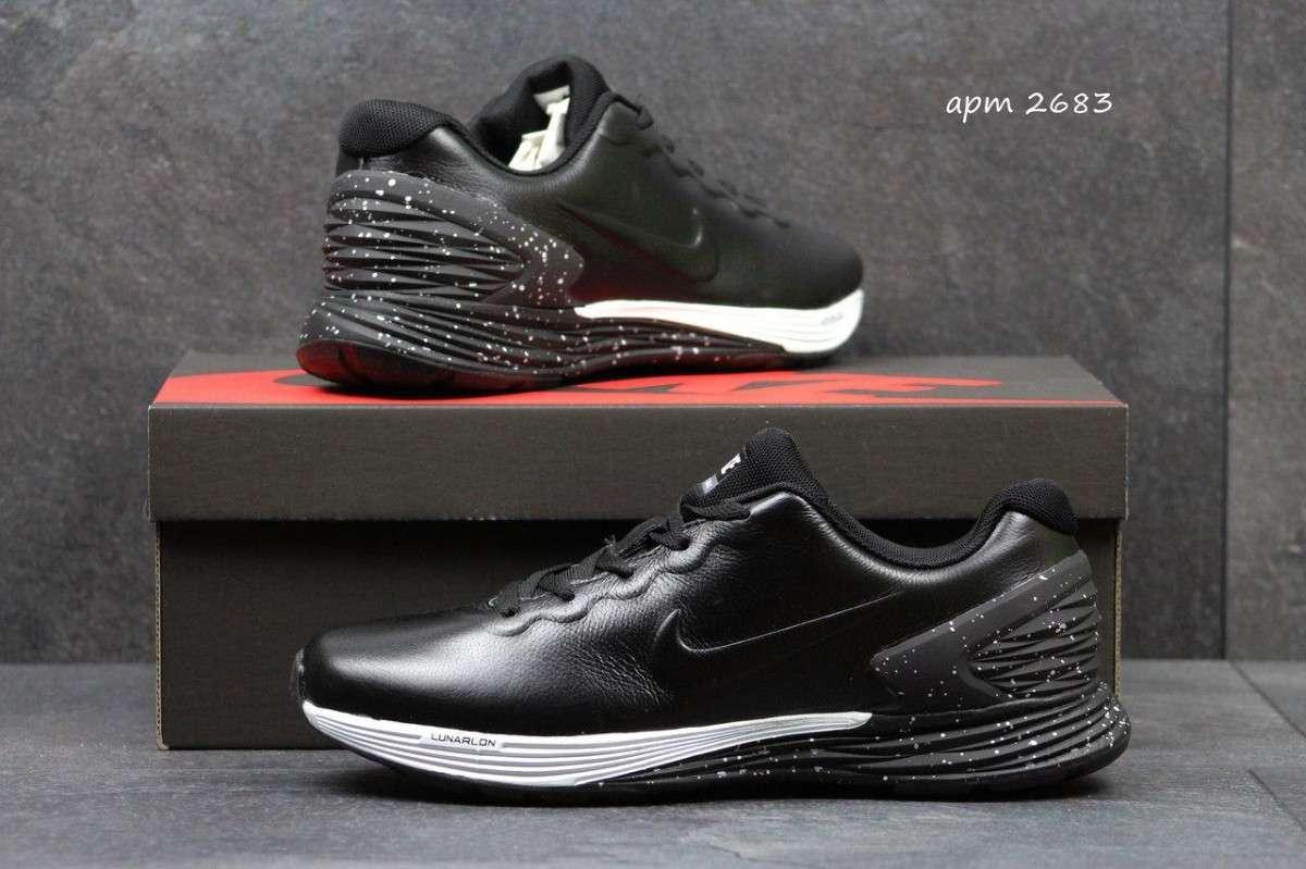 2c0ee9e1 Мужские кроссовки Nike Lunarlon черные 2683 купить в интернет ...
