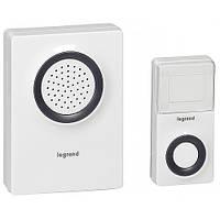 Звонок беспроводной на батарейках Legrand Белый (094219)