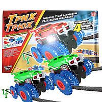 ϞТрек Trix Trux 2 car гонки на канатах две машинки канатный трек трюки с машинами для мальчиков монстр-трек