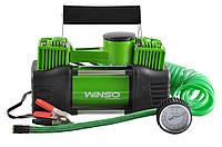 Автомобильный компрессор Winso 125000 двухцилиндровый 12v/10Атм/85л/360вт/30A кабель 5,7м