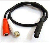 Микрофон для камеры видеонаблюдения AM16, под RCA