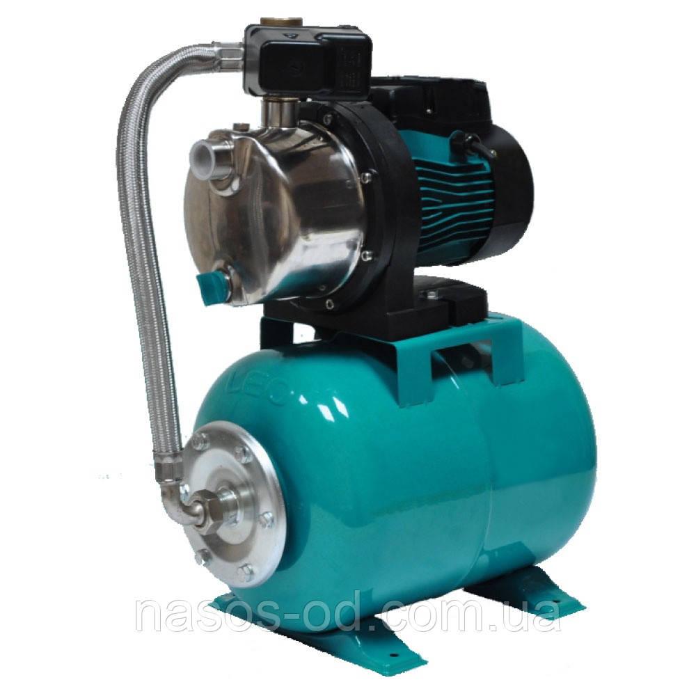 Насосная станция гидрофор Leo для воды 1.1кВт Hmax43м Qmax70л/мин (самовсасывающий насос) 24л (776254)