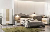 Спальня Эрика (Шкаф, кровать 160, 2 тумбы, комод, зеркало ) Белая / Сонома
