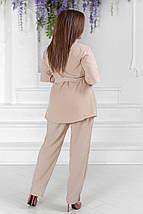 """Летний брючный женский костюм """"LORA"""" с блузой (большие размеры), фото 3"""