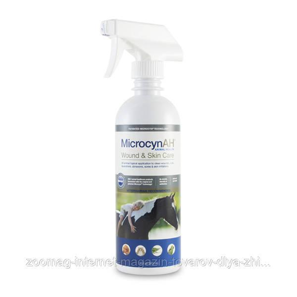 Microcyn Wound&Skin Care Liquid cпрей-жидкость для обработки ран всех видов животных (0.5 л)