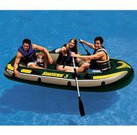 Лодка надувная Intex SeaHawk 68349 3-х местная
