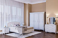 Спальня Тереза ( Шкаф , Кровать (1.6),тумбочка - 2 шт, Комод, Зеркало)